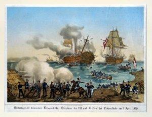 Niederlage der dänischen Kriegsschiffe?