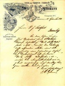 Tabak und Cigarren-Fabrik F.D.Spethmann