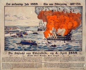 Die Schlacht von Eckernförde, am 5.April 1849