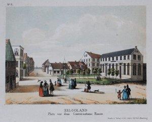 Helgoland. Platz vor dem Konversationshause