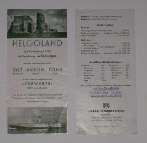 Helgoland - das Reiseerlebnis 1952