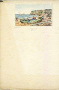 Helgoland. Das Bootziehen.