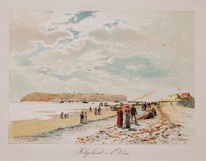 Helgoland v. d. Düne / Promenade am Strand der Düne