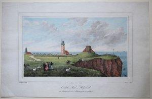 Oestlicher Theil von Helgoland vom Standpunkt über Möhrmersgatt aus gesehen
