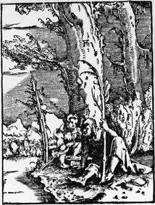 Der heilige Christophorus am Ufer