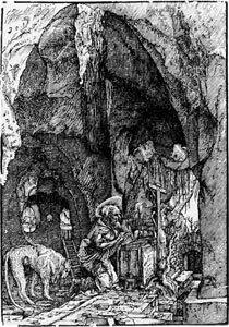Der heilige Hieronymus in der Höhle
