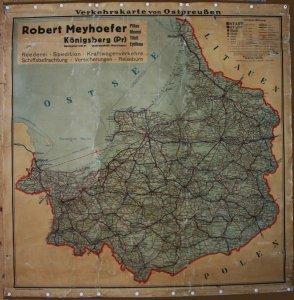 Landkarte von Ostpreussen