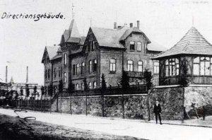 Verwaltungsgebäude der Eisenhütte Holstein um 1900