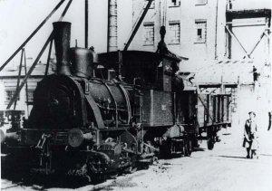 Lokomotive der ehem. Industriebahn in Schacht-Audorf um 1926