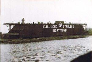 Schwimmdock der Fa. Jucho in Schacht-Audorf 1940-1952