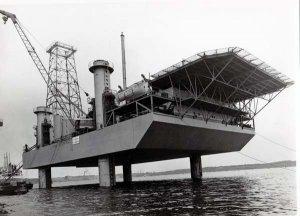 Gutehoffnungshütte1956, Probehub der Bohrinsel Adam Enterprise