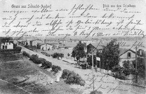 Dorfstrasse um 1902, Blick aus dem Schulhaus