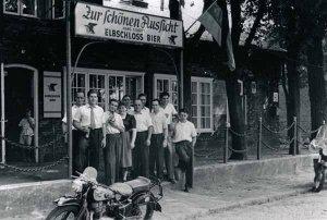 Dorfstrasse Nr. 47, Gaststätte Zur schönen Aussicht um 1953