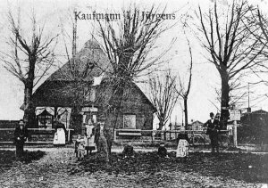 Kaufmann Jürgens , Dorfstrasse 57 um 1909