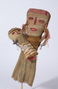 Chancay Puppe, Mutter und Kind