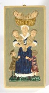 Holz-Gebäckmodeln Kinderbringerfrau