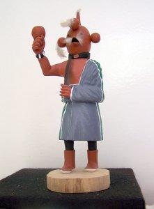 Kachina-Figur Koyemsi=Schlammkopf