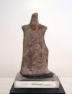 Frau, die ihr Kind stillt (Terrakotta)