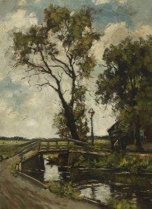 Brücke über Bach zum Haus