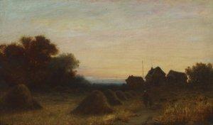 o.T. ( Landschaft im Abendlicht)