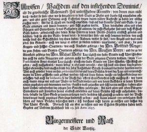 Ratsverordnung von 1697