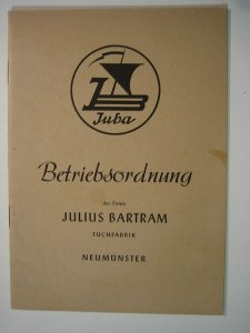 Betriebsordnung der Firma Julus Bartram