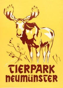 Tierparkplakat Elch