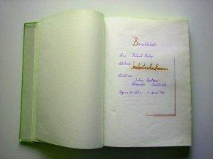 Berichtsheft von Roderich Bidder