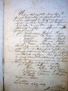 Liedertafelangelegenheiten 1859 bis 1876