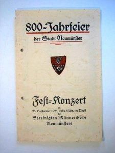 Festkonzert zur 800 Jahrfeier der Stadt Neumünster