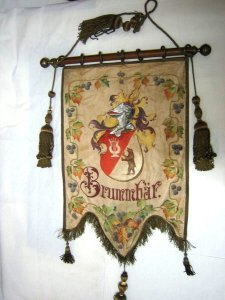Fahne vom Bass der Neumünsterschen Liedertafel 1859