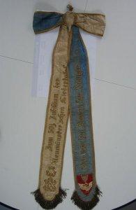 Fahnenschleife der Damen der Sänger der Liedertafel