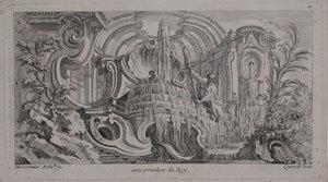 Grottencapriccio in einer Landschaft