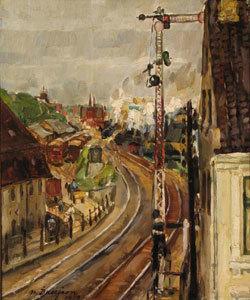 Flensburger Bahnhofseinfahrt