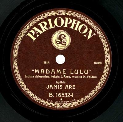 Madame Lulu : intīma dziesmiņa