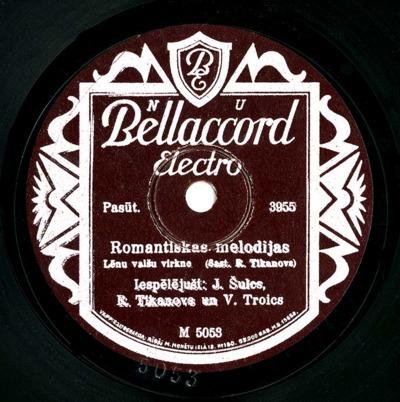 Romantiskas melodijas : lēnu valšu virkne