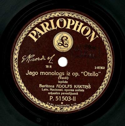Jago monologs iz op. Otello