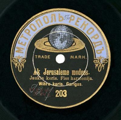 Ak, Jeruzaleme, modies