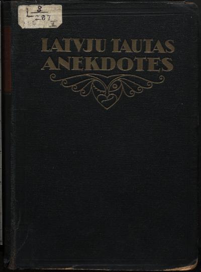 Latvju tautas anekdotes. 2. daļa