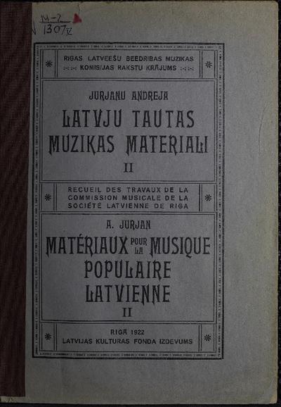 Latvju tautas mūzikas materiāli. 5.grāmata