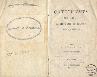 Catechismvs melicvs latinis christianorvm scholis dicatvs
