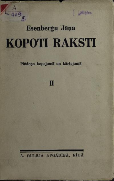 Esenberģu Jāņa Kopoti raksti. II