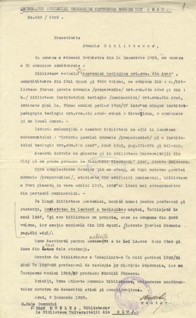 Ancheta referitoare la istoricul bibliotecilor publice din Ardeal : 1929-1934