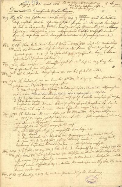 [Debreczeni Márton bányászati naplójegyzetei] : 1848