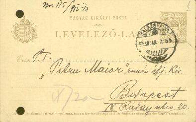 Corespondenţă : destinatar : Societatea Academică Petru Maior : 1912, ianuarie-decembrie