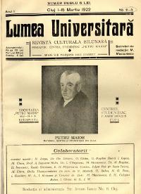 Lumea universitară : Revista bilunara, culturala