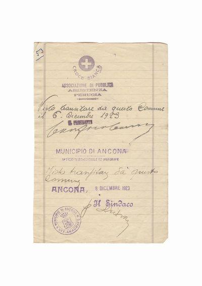 Document care atesta vizita lui Dumitru Dan la diverse institutii din Italia