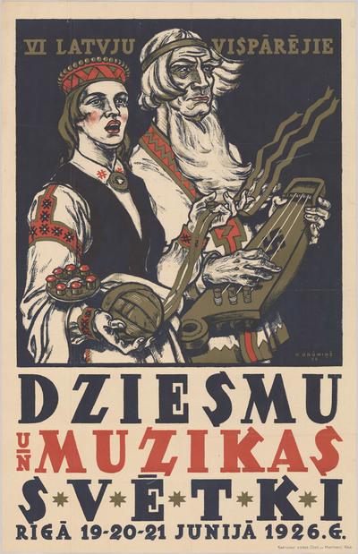 VI latvju vispārējie Dziesmu un mūzikas svētki Rīgā 19-20-21 junijā 1926.g.