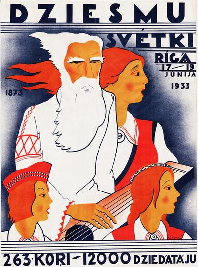 Dziesmu svētki Rīgā, 17.-19.jūnijā 1933