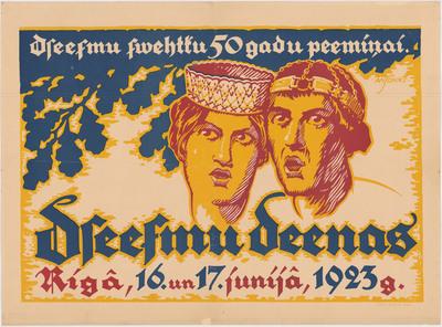 Dzeesmu deenas Rīgā, 16. un 17.junijā, 1923.g.: Dzeesmu swehtku 50 gadu peemiņai